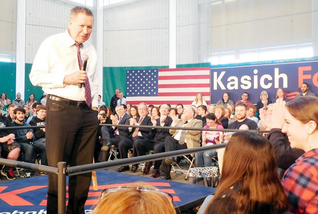Kasich brings his message to Utica