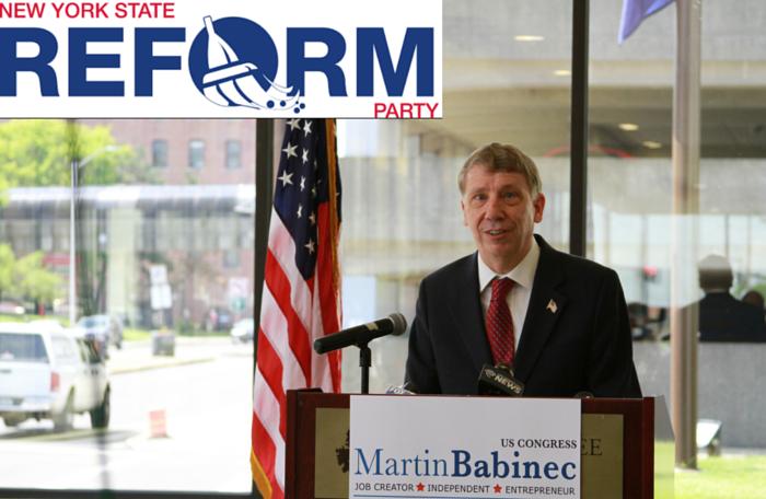 Martin Babinec Wins Reform Party Ballot Line