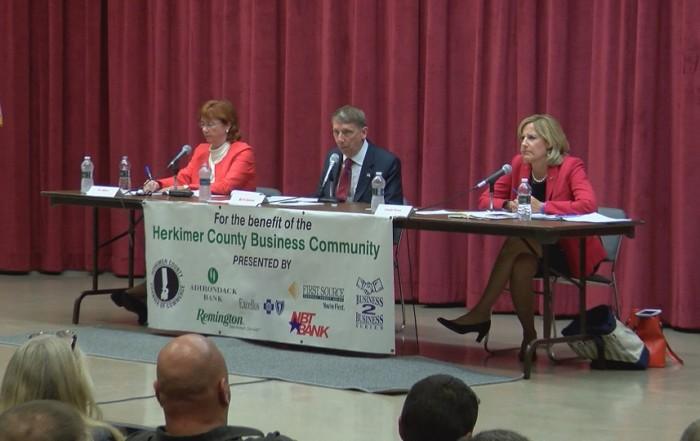 WKTV: First 22nd Congressional District debate draws big crowd