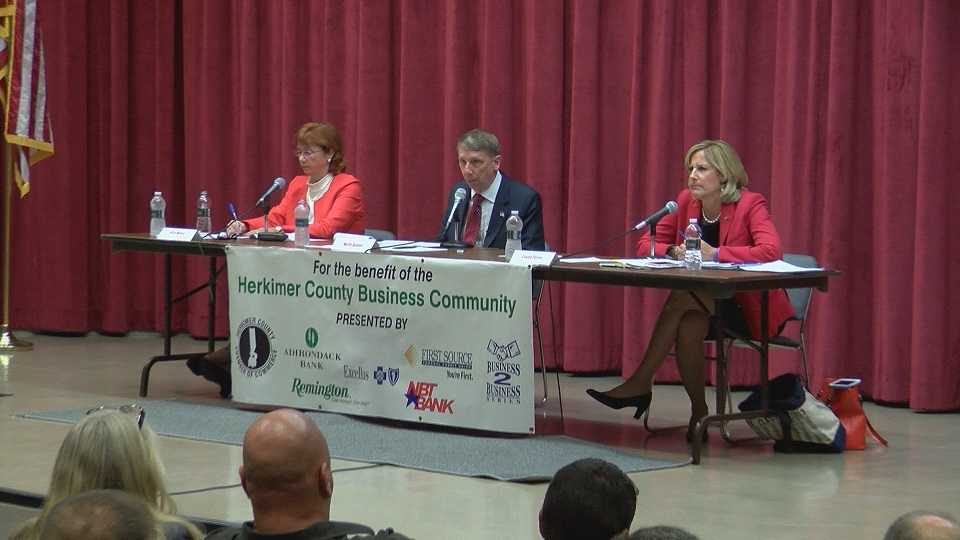 WKTV: First 22nd Congressional District debate draws big crowd