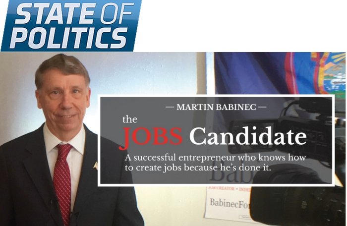 State of Politics: Babinec Says He'll Donate Congressional Salary to Charity